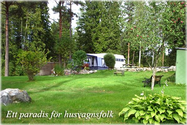 Camping för husvagnar i Roslagen